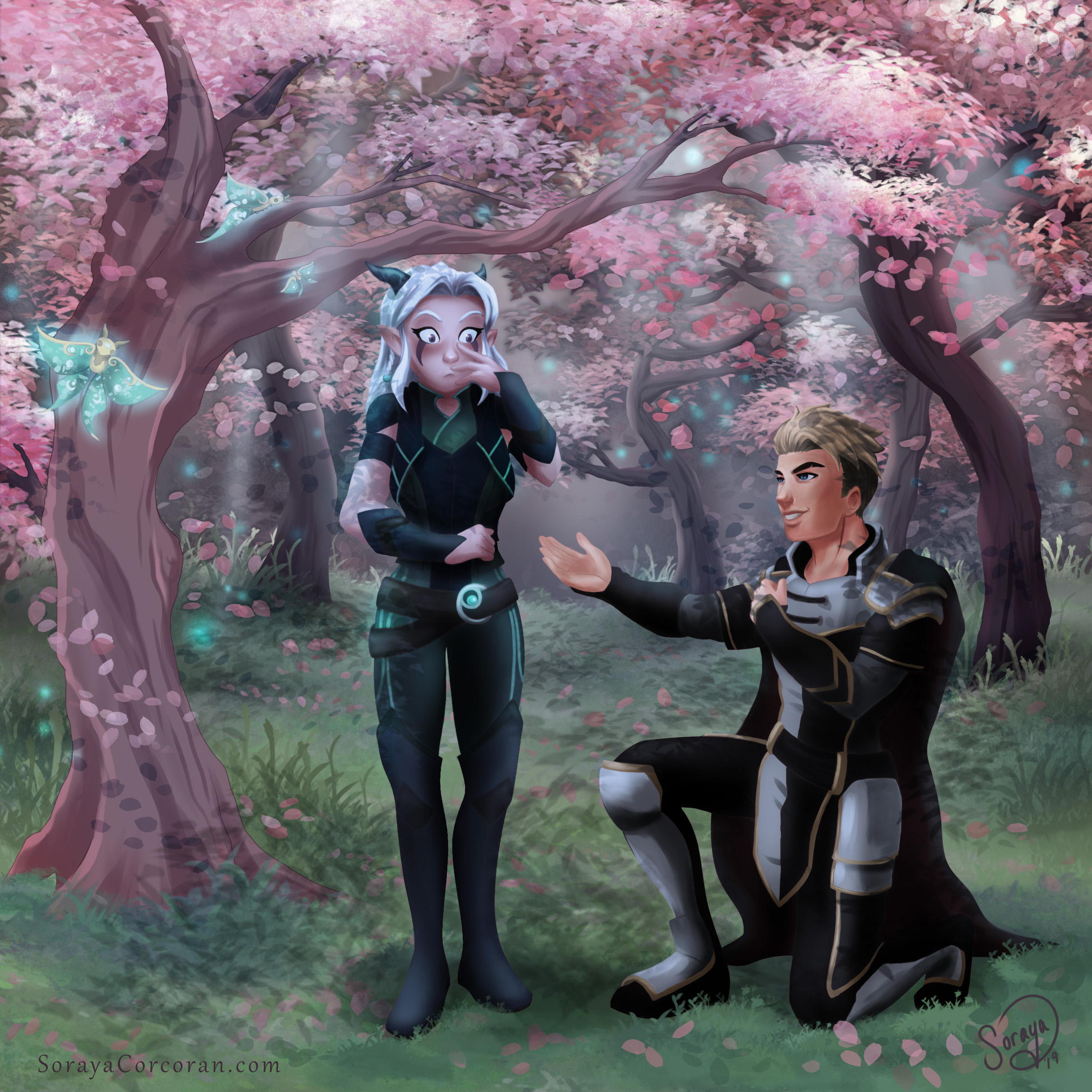 Dragon Prince Fanart Process Soraya Corcoran